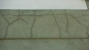 Cracked Cement Foundation