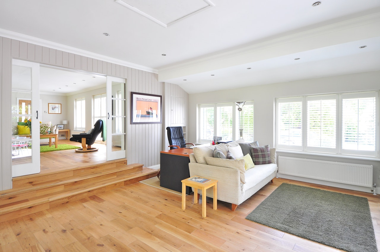 Living Room Preparing Home For Sale